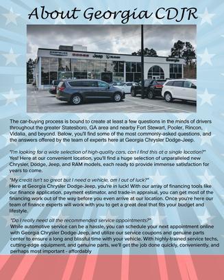 Georgia Chrysler Dodge Jeep : Statesboro, GA 30458 Car Dealership ...