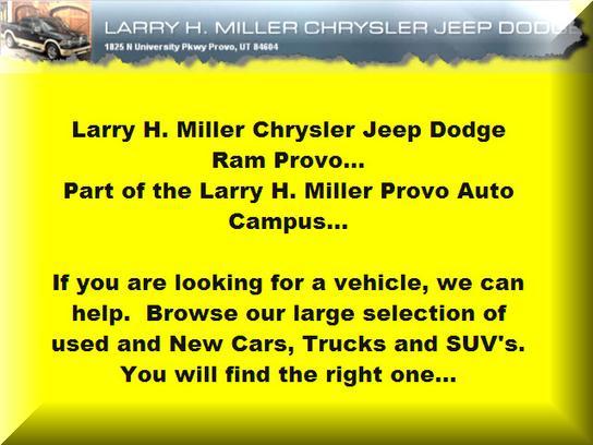 Chrysler Jeep Dodge Ram Dealer In Lhm Chrysler Provo