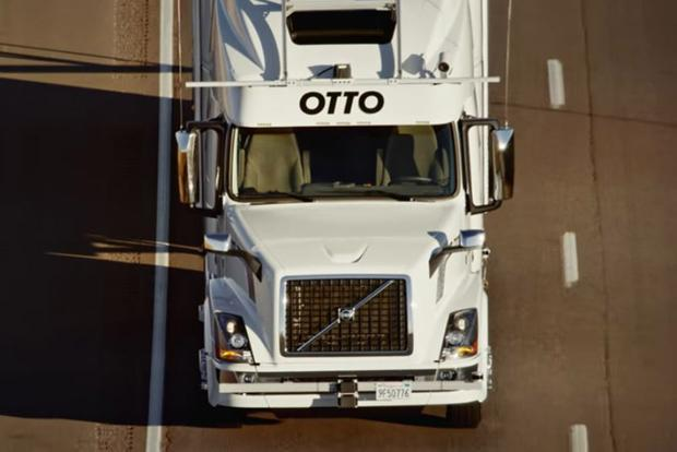 Self-Driving Cars Inch Closer as Uber Autonomous Semi Makes First Delivery featured image large thumb0