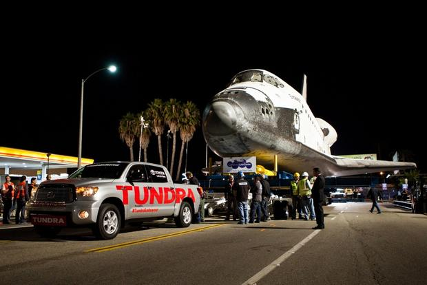 Toyota Tundra Tows Space Shuttle Endeavor featured image large thumb0