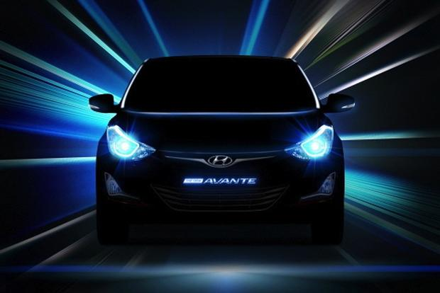 Revised Hyundai Elantra Teased in New Images featured image large thumb0