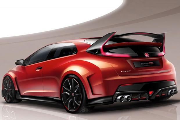 Honda Civic Type R Concept Teased Ahead of Geneva featured image large thumb0