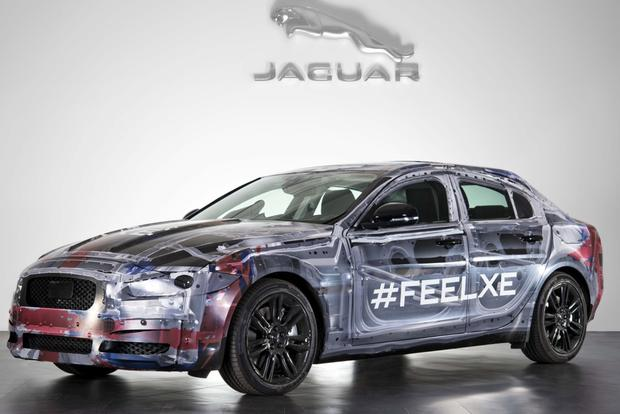 Upcoming Jaguar XE Teased in Official Photo featured image large thumb0