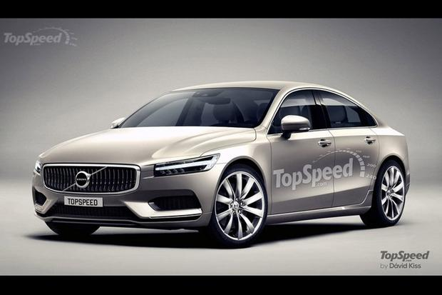 2017 Volvo S90 Teased In New Rendering Featured Image Large Thumb0