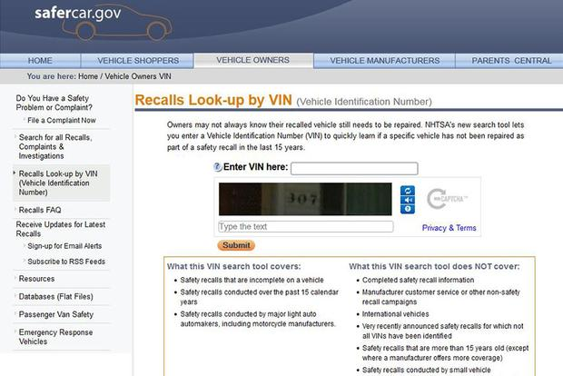 New NHTSA Website Feature Makes It Easier to Find Recalls featured image large thumb0