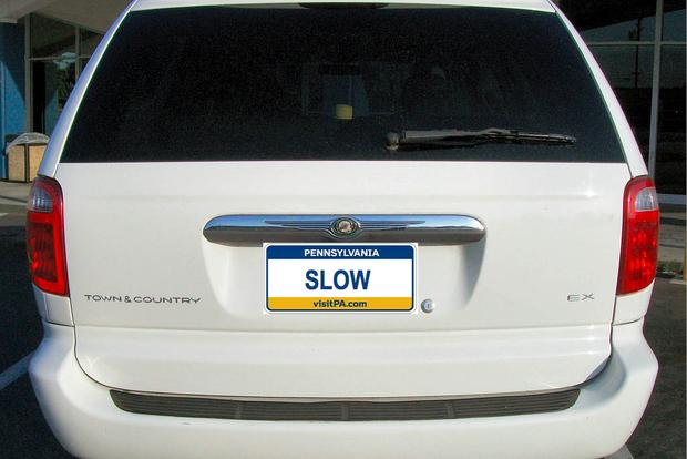 Here Are the Cars That Have the Vanity Plate SLOW Across the Country featured image large thumb0