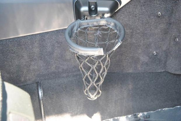 The Mercedes G-Wagen Cup Holder Is a Tiny Basketball Hoop featured image large thumb0