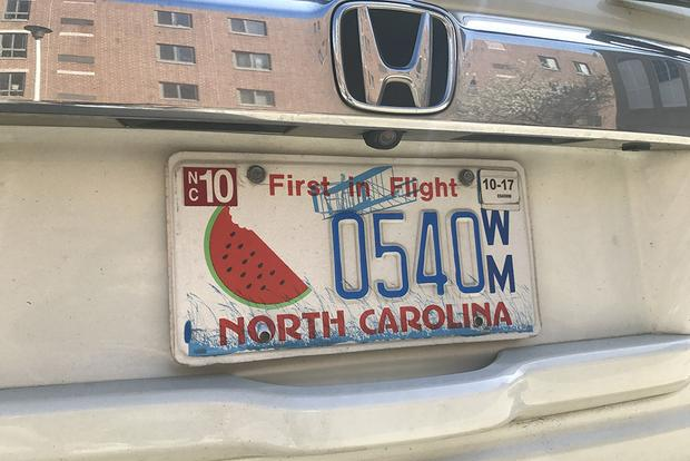 North Carolina Has a Special License Plate ... for Watermelon featured image large thumb0
