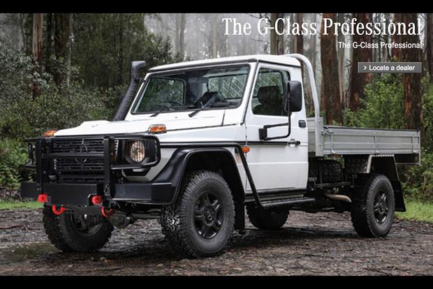 There's a Pickup Version of the Mercedes G-Class in Australia featured image large thumb0