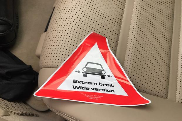 This Decal Is Used on Wide-Body Porsche Models During Shipping featured image large thumb0