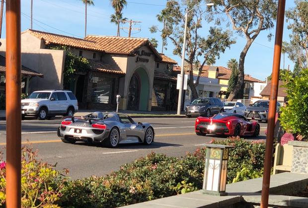 I Saw a LaFerrari and a Porsche 918 Spyder Driving Down the Street featured image large thumb0