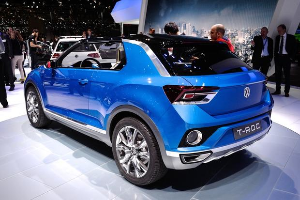 volkswagen t roc concept geneva auto show autotrader. Black Bedroom Furniture Sets. Home Design Ideas