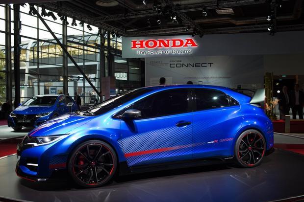 Honda Civic Type R Concept Paris Auto Show Autotrader