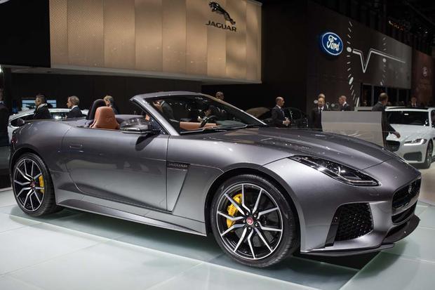 2017 jaguar f type svr geneva auto show autotrader. Black Bedroom Furniture Sets. Home Design Ideas
