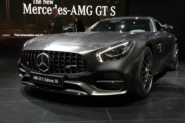 MercedesBenz GLAClass AMG GT And SClass Coupe Night Edition - Mercedes car show 2018