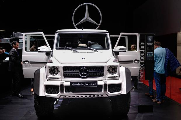 the mercedes g550 4x4 squared is a 250 000 german monster truck autotrader. Black Bedroom Furniture Sets. Home Design Ideas