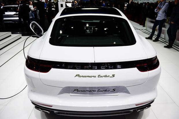 2018 porsche panamera turbo s e hybrid and sport turismo geneva auto show featured