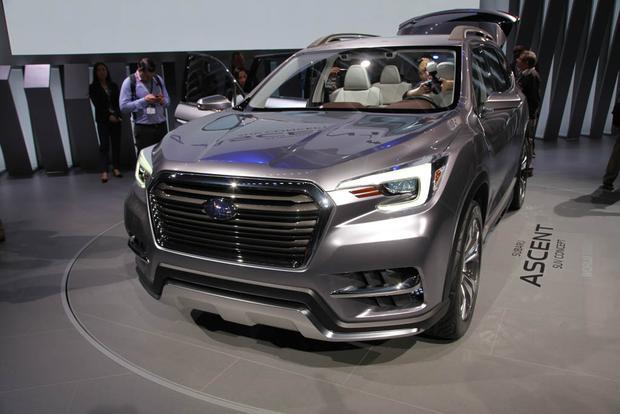 subaru ascent concept new york auto show autotrader. Black Bedroom Furniture Sets. Home Design Ideas