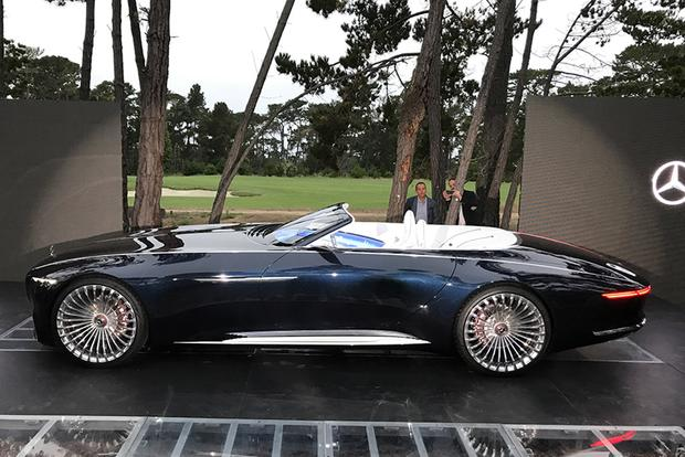 mercedes reveals fully-electric vision mercedes-maybach 6 cabriolet