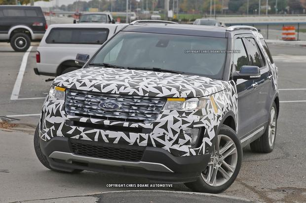 2016 Ford Explorer Spied Without Camouflage featured image large thumb0