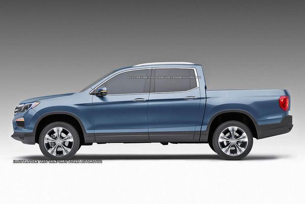 All-new Honda Ridgeline previewed in new renderings New pickup boasts ...