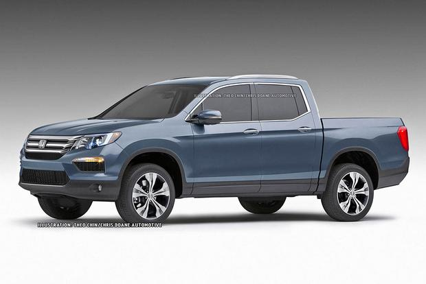 2016 Honda Ridgeline Teased In New Renderings Featured Image Large Thumb0