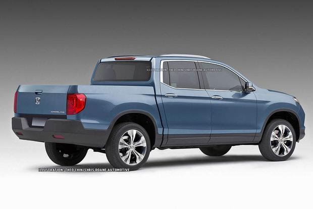 2016 Honda Ridgeline Teased in New Renderings featured image large thumb2