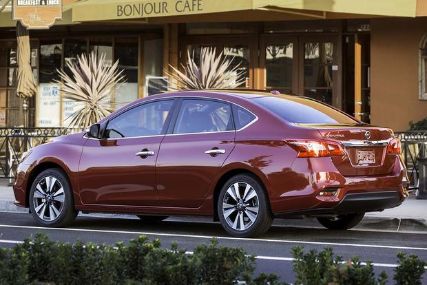 rating sr cvt nissan motor sentra sedan angular cars reviews trend and rear