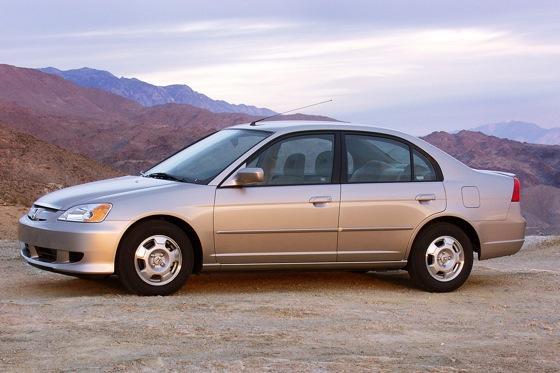 2003 2005 honda civic hybrid used car review autotrader. Black Bedroom Furniture Sets. Home Design Ideas