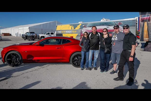 First 2016 Chevrolet Camaro Delivered by Danica Patrick at Texas Motor Speedway featured image large thumb1
