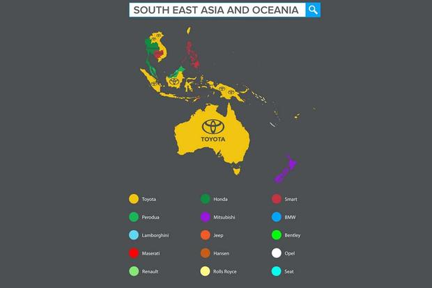 Check Out This Cool Map of the Most-Searched Car Brands by Country featured image large thumb7