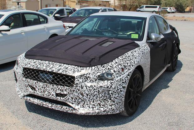 SPIED: The BMW-Fighting Genesis G70 Is on Its Way