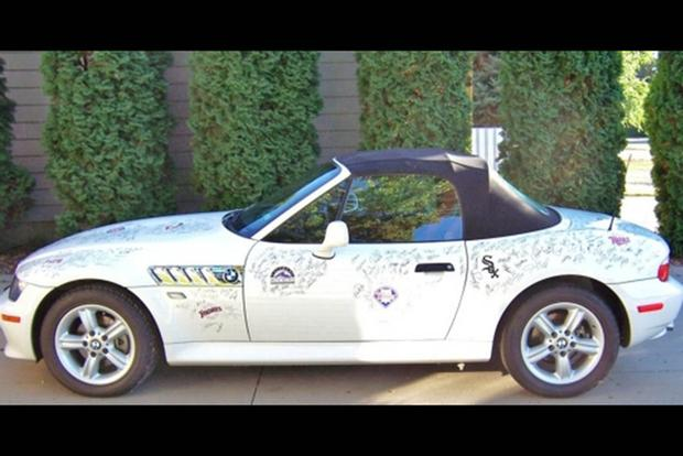 Autotrader Find: 2000 BMW Z3 Signed By Hundreds of Baseball Players featured image large thumb1