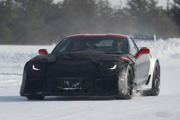 Upcoming Chevy Corvette ZR1 Spied Cold Weather Testing