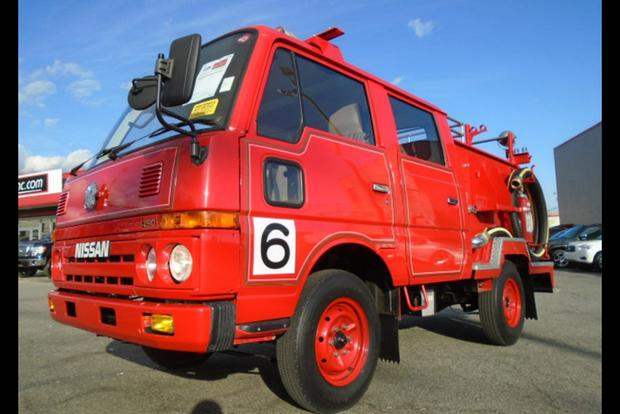 Autotrader Find: Right Hand Drive Nissan Fire Truck Featured Image Large  Thumb0