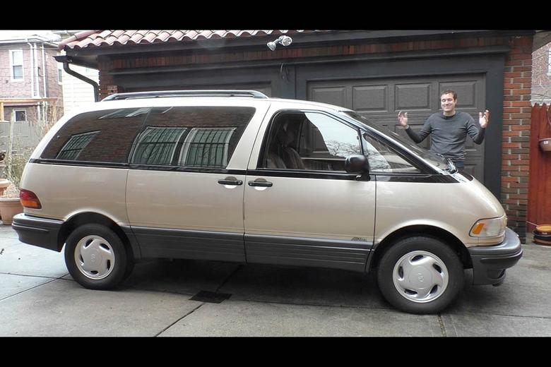 Video The Toyota Previa Is The Weirdest Minivan Ever Autotrader