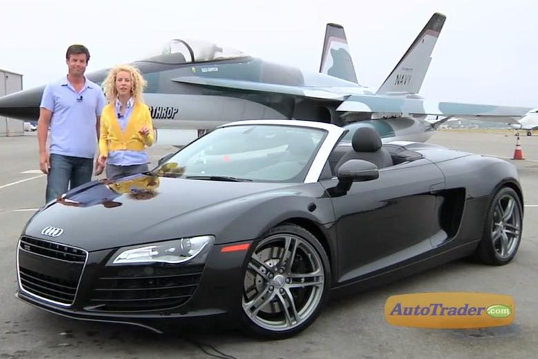 2012 audi r8 spyder new car review video autotrader. Black Bedroom Furniture Sets. Home Design Ideas